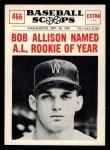1961 Nu-Card Scoops #466  Bob Allison  Front Thumbnail