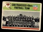 1965 Philadelphia #169   49ers Team Front Thumbnail