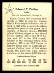 1961 Golden Press #28  Eddie Collins  Back Thumbnail