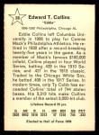 1961 Golden Press #28  Eddie Collins  Back Thumbnail