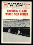 1961 Nu-Card Scoops #436   Umpires Clear White Sox Bench Front Thumbnail