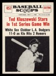 1961 Nu-Card Scoops #457   Ted Kluszewski   Front Thumbnail