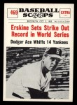 1961 Nu-Card Scoops #469   -   Carl Erskine  Erskine Sets Strike Out Record in WS Front Thumbnail