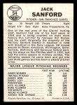 1960 Leaf #54  Jack Sanford  Back Thumbnail