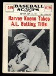 1961 Nu-Card Scoops #459   -   Harvey Kuenn  Harvey Kuenn Takes Batting Title Front Thumbnail