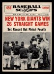 1961 Nu-Card Scoops #456   New York Giants Win 26 Straight Games Front Thumbnail