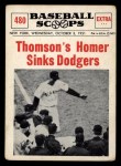 1961 Nu-Card Scoops #480  Bobby Thomson  Front Thumbnail