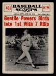 1961 Nu-Card Scoops #401  Jim Gentile  Front Thumbnail