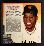 1955 Red Man #7 NL x Willie Mays  Front Thumbnail
