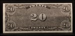 1962 Topps Civil War News Currency #12   $20 Serial #131960 Back Thumbnail