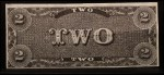 1962 Topps Civil War News Currency #4   $2 Serial #94505 Back Thumbnail
