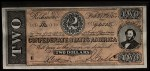 1962 Topps Civil War News Currency #4   $2 Serial #94505 Front Thumbnail
