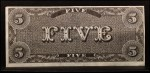 1962 Topps Civil War News Currency #5   $5 Serial #4763 Back Thumbnail