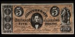 1962 Topps Civil War News Currency #6   $5 Serial #24497 Front Thumbnail