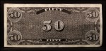 1962 Topps Civil War News Currency #13   $50 Serial #31351 Back Thumbnail