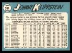 1965 Topps #384  Johnny Klippstein  Back Thumbnail