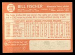 1964 Topps #409  Bill Fischer  Back Thumbnail