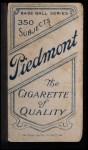 1909 T206  Dode Paskert  Back Thumbnail