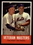 1963 Topps #43   -  Casey Stengel / Gene Woodling Veteran Masters   Front Thumbnail