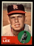 1963 Topps #372 xFUL Don Lee  Front Thumbnail