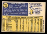 1970 Topps #366  Barry Moore  Back Thumbnail