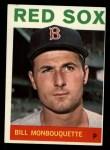1964 Topps #25  Bill Monbouquette  Front Thumbnail