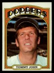 1972 Topps #264  Tommy John  Front Thumbnail