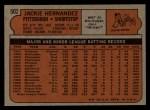 1972 Topps #502  Jackie Hernandez  Back Thumbnail