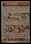 1956 Topps Round Up #3   -  Wild Bill Hickok  Slashing Claws Back Thumbnail