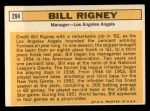 1963 Topps #294  Bill Rigney  Back Thumbnail