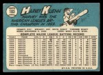 1965 Topps #103  Harvey Kuenn  Back Thumbnail