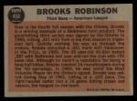 1962 Topps #468   -  Brooks Robinson All-Star Back Thumbnail