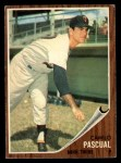 1962 Topps #230  Camilo Pascual  Front Thumbnail