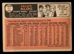 1966 Topps #96  Felipe Alou  Back Thumbnail