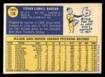 1970 Topps #136  Steve Hargan  Back Thumbnail