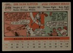 1956 Topps #249  Johnny Klippstein  Back Thumbnail