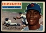 1956 Topps #4  Carlos Paula  Front Thumbnail