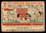 1956 Topps #8  Walter Alston  Back Thumbnail