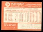 1964 Topps #394  Bob Miller  Back Thumbnail
