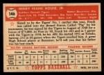 1952 Topps #146  Frank House  Back Thumbnail