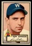 1952 Topps #190 CRM Don Johnson  Front Thumbnail