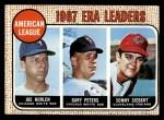1968 Topps #8   -  Joe Horlen / Gary Peters / Sonny Siebert AL ERA Leaders Front Thumbnail
