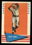 1961 Fleer #80  Fred Toney  Front Thumbnail