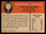 1961 Fleer #6  Home Run Baker  Back Thumbnail