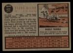 1962 Topps #422  Steve Bilko  Back Thumbnail