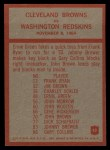 1965 Philadelphia #42   -  Blanton Collier   Cleveland Browns Back Thumbnail