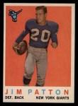 1959 Topps #87  Jim Patton  Front Thumbnail