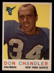 1959 Topps #49  Don Chandler  Front Thumbnail