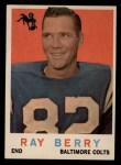 1959 Topps #55  Raymond Berry  Front Thumbnail