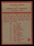 1965 Philadelphia #28   -  George Halas Chicago Bears  Back Thumbnail